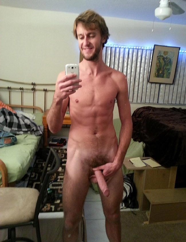 Nude Man Taking Selfies